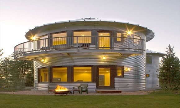 17 best images about grain bin on pinterest pool houses for Silo house plans