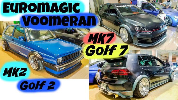 EuroMagic Voomeran new body kit video of MK2 and MK7 #kamiwazajapan #euromagic #voomeran #1048style #vw #vwgolf #golf2 #golfmk2 #illest
