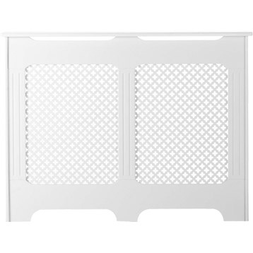 Cache radiateur classique en m dium mdf blanc satin 90x119x15 cm leroy - Leroy merlin radiateur rayonnant ...