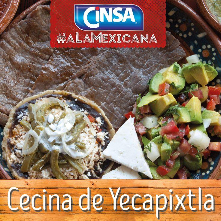 #Cinsa #CinsaALaMexicana #Recetas #Mexicanas #RecetasMexicanas #México #Comida #ComidaMexicana #peltre #MarcasMexicanas #CecinaDeYecapixtla  #Morelos