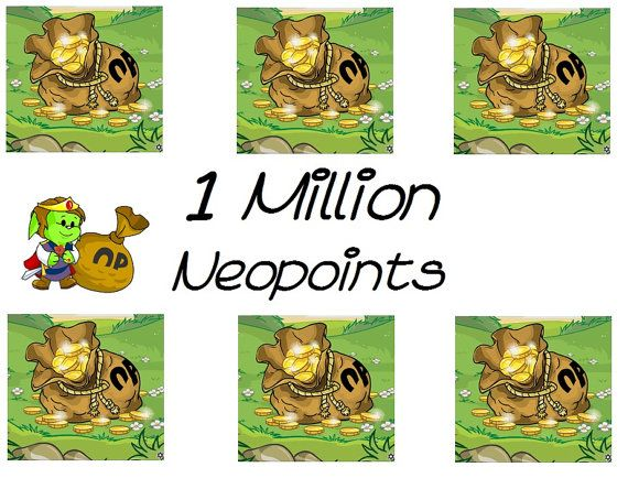 For Sale: One Million Neopoints Neopets by VintagePreserve on Etsy  #Neopoints #Neopets