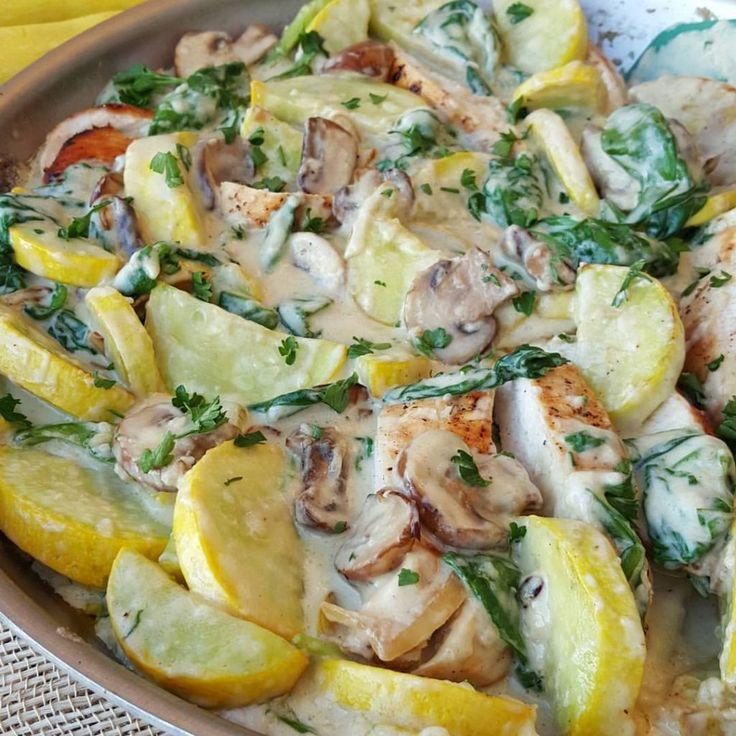 Creamy Chicken and Summer Squash Recipe - no grains or dairy