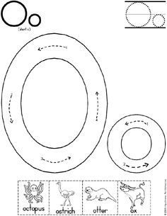 Alphabet Letter O Worksheet | Short O Sound | Standard Block Font | Preschool Printable Activity