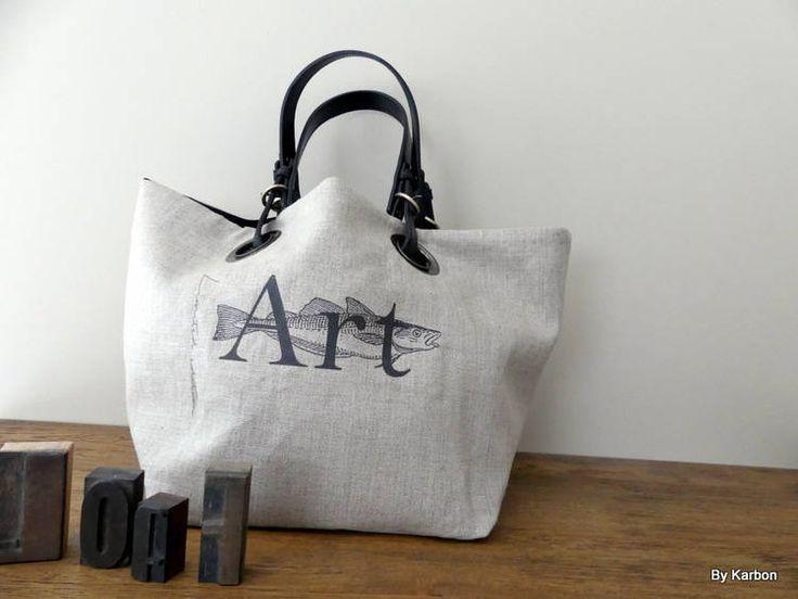 sac cabas REVERSIBLE  2 EN 1 de la boutique bykarbon sur Etsy
