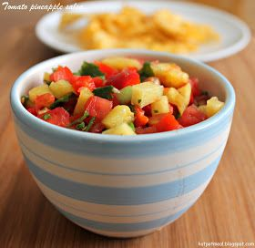 Hot pot cooking: Tomato pineapple salsa