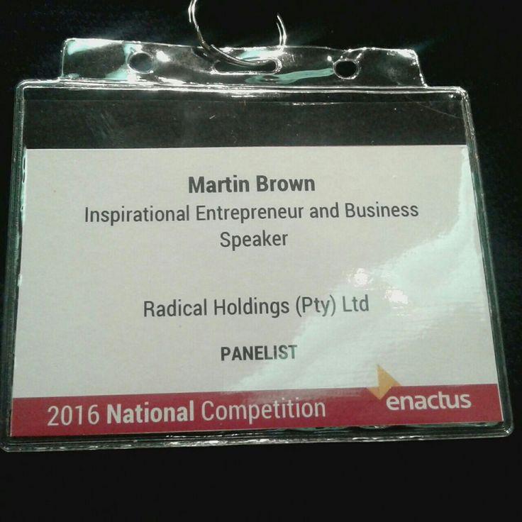 Enactus 2016 National Panelist