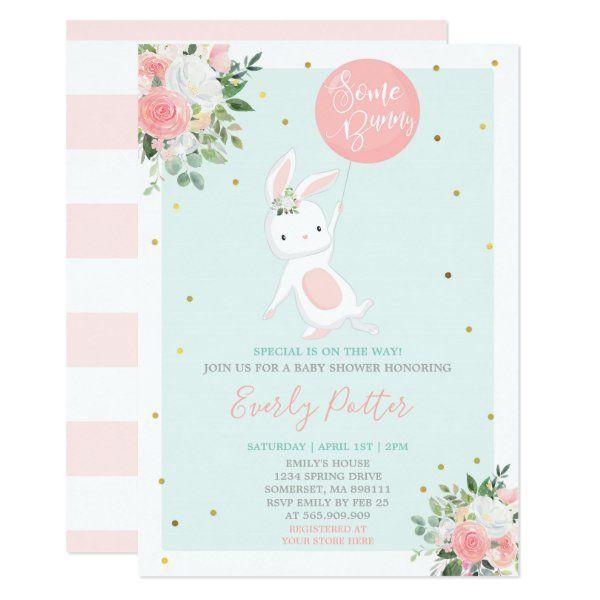 Bunny baby shower invitation some bunny special zazzle