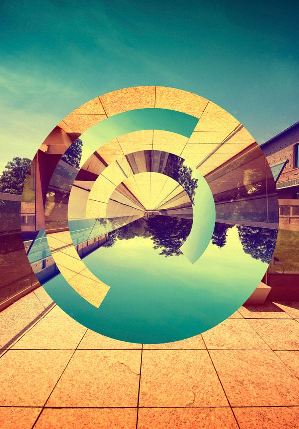 L'Infinito by Victor Vercesi (flipping photos around in geometric shapes)