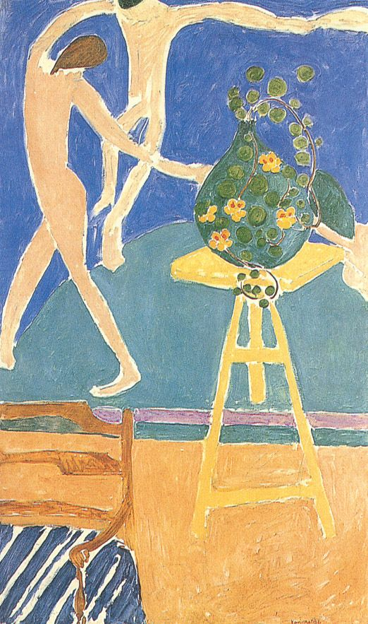 """Still Life with """"The Dance"""", Henri Matisse. I saw this painting in 1985... it is huge & the colours are so vibrant. I was mesmerised :)"""