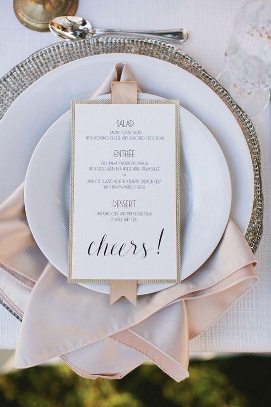 cheers wedding menu