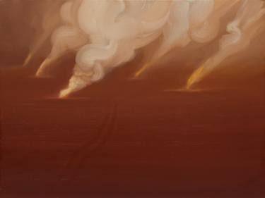 "Saatchi Art Artist sebastian sleczka; Painting, ""Desert Storm"" #art"