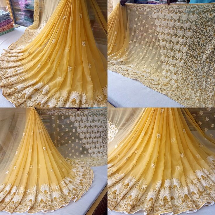 #lucknow #chikan #exclusive #hand #needle #embroidery #designer #skirt #border #facncy #authentic #ethenic all #occasion #festival #party #wear #chiffon #Saree with Blouse Direct from the Paridhan Chikan manufacturer of #Lucknow #city since 1985  TO BOOK ORDER CALL OR WHATSAPP +918756854414 COLOR CODE: SILK BEIGE SKIRT BORDER