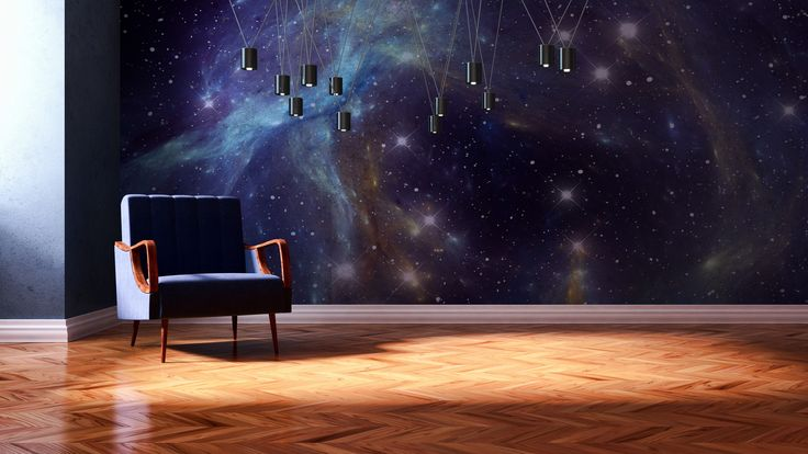 Wall mural with #galaxy #print