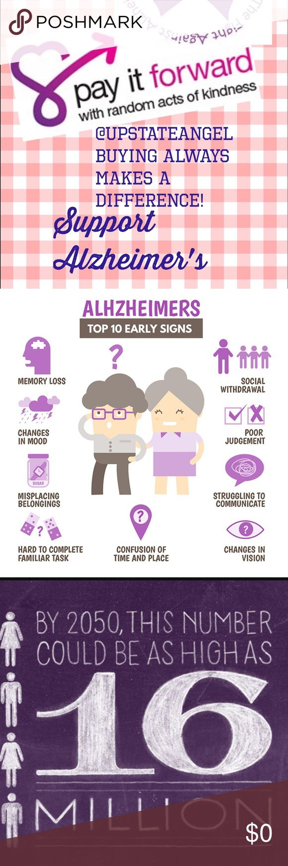"""All Sales & Bundles Support Alzheimer's! I am only one person. How could I use the pain of losing my dad? I would """"Pay It Forward""""! Every Sale has a portion of it going to The Alzheimer's Foundation! I might be one.. Together, we can make a small difference! Other"""