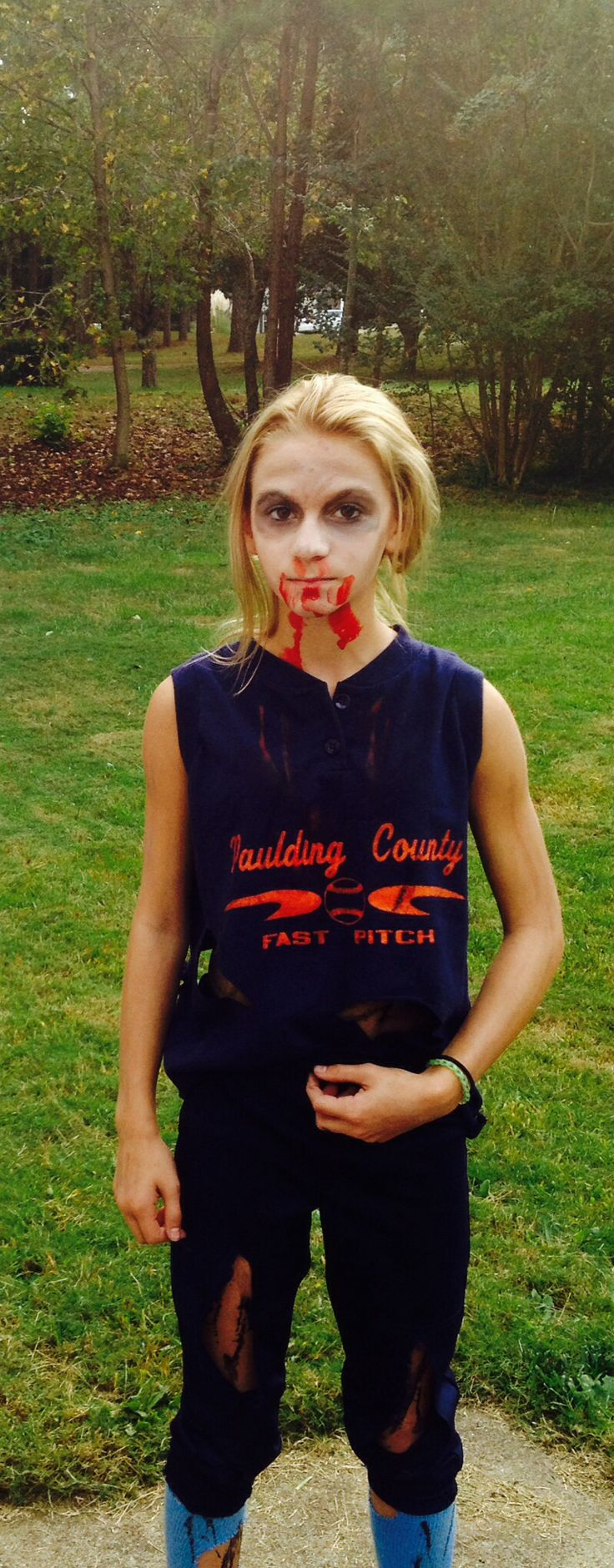 Zombie Softball Player  Halloween Costume Zombie -3803