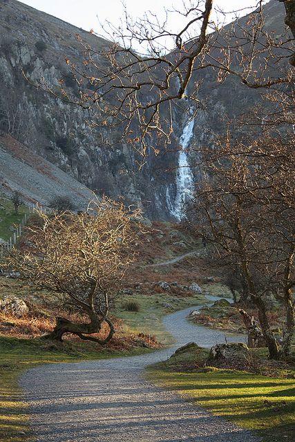 Path to Aber Falls, Abergwyngregyn, Snowdonia National Park, Gwynedd, UK   par…