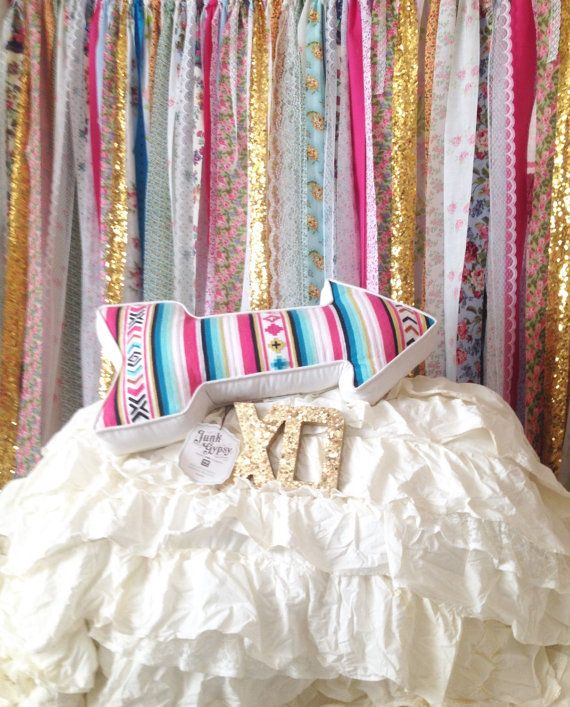 Boho Headboard Hippie Curtains Boho Curtain Junk Gypsy Bed by ChangesByNeci #mypbteen #junkgypsybed