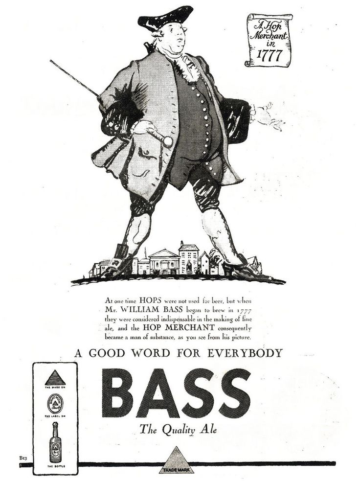 From Britain 1926 an advertisement for Bass ale.