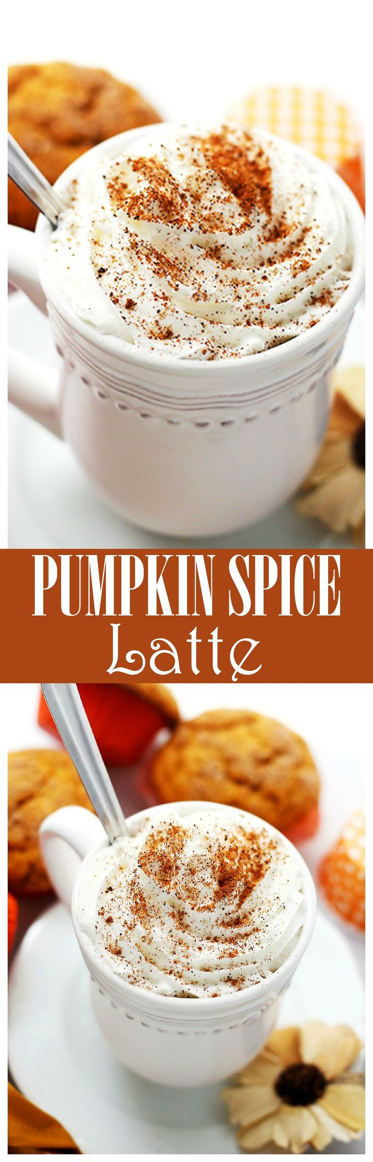 Pumpkin Spice Latte - Make your own Starbucks Pumpkin Spice Latte at home! SO easy, SO delicious Pumpkin Spice Latte without all the artificial flavors and colors.