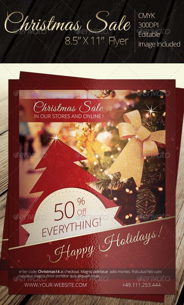 "Christmas Sale Flyer Item DetailsComments Christmas Sale Flyer - Holidays Events Share Facebook Google Plus Twitter Pinterest Add to Favorites Add to Collection 8.5"" X 11"" Christmas Flyer Trim Size: 8,5 X 11 Bleed Size: 8,75 X 11,25 • CMYK • 300dpi • Editable, layered .psd file"