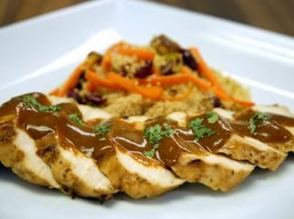 Peach Chile Chicken with Black Garlic Recipe | Savory Spice Shop, Use fresh peaches rather than canned