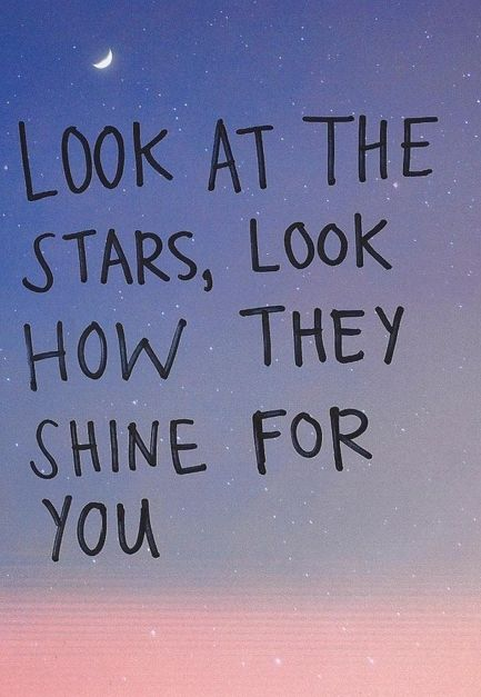 look how they shine for you.