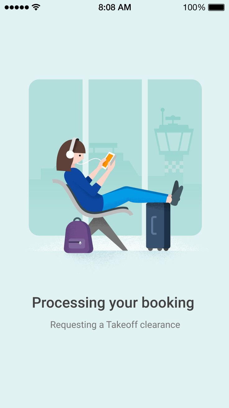 Google Flights booking processing by German Kopytkov