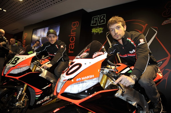 #Aprilia #Racing Team 2013 - The arrival of the fast and expert Frenchman, Sylvain #Guintoli, with the confirmed team mate Eugene #Laverty, completed a structure which has otherwise remained unchanged: answering to Technical and Sport Director Luigi Dall'Igna is #Team Coordinator Dario Raimondi, while the mechanics in the two #garages are be Marcus #Eschembacher and Aligi #Deganello, working respectively with #Laverty's number #58 #RSV4 and #Guintoli's number #50.