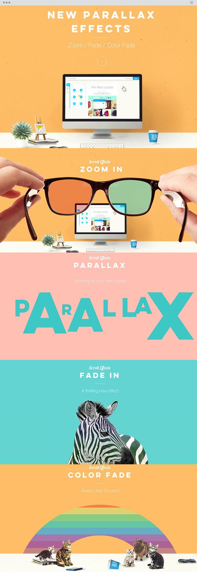 Wix New Features | New Parallax Effects
