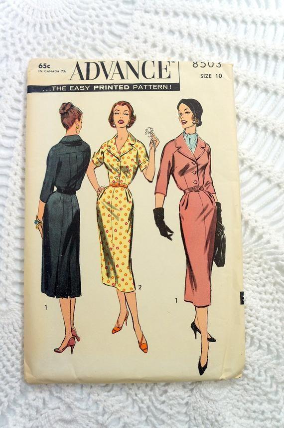 Vintage 1950 S Advance 8829 Sewing Pattern Misses Etsy In 2020 Vintage 1950s Sewing Patterns Vintage Patterns