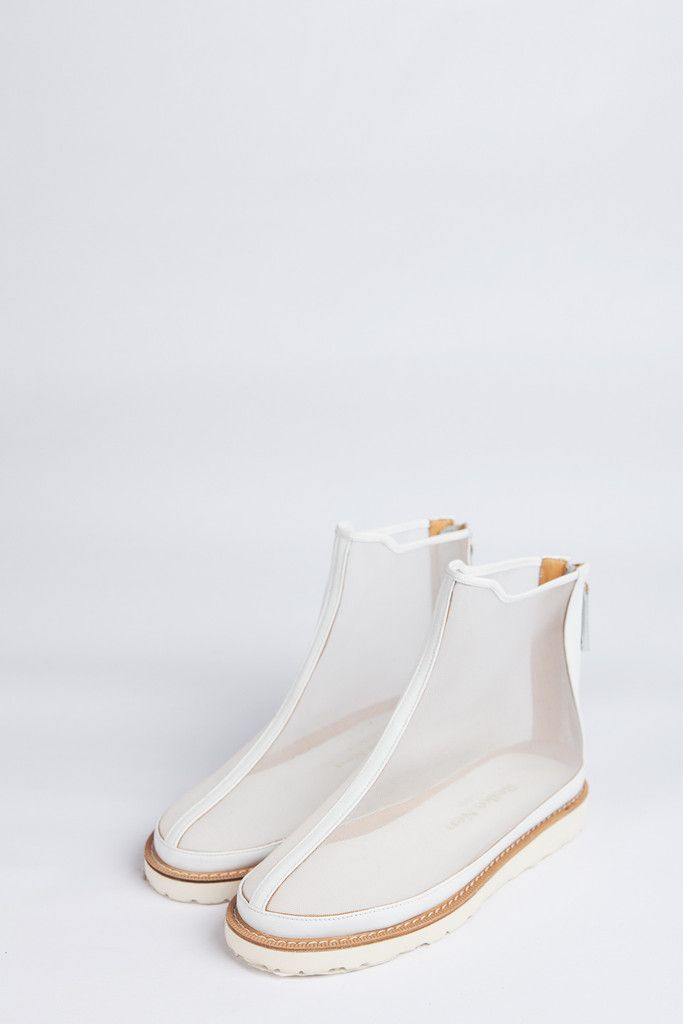 Transparent Ankle Boots by Reike Nen