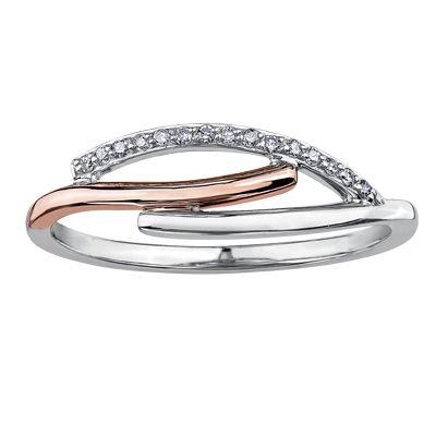 Ladies two tone diamond ring, $199 #ZekesWishList