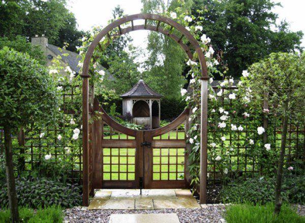 Rose Arch & Moon Gates by Stuart Garden Architecture
