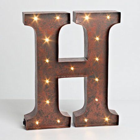 Gerson Compnay 92669H Wall Decor Lighted Letter  H -- You can get additional details at the image link.