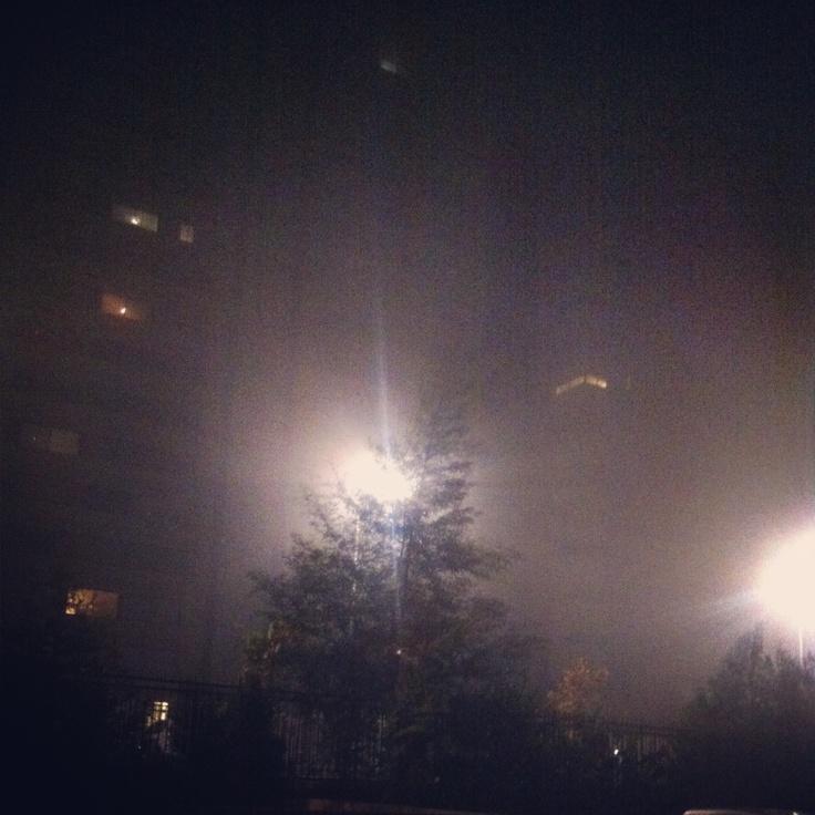 hazy light, hazy city
