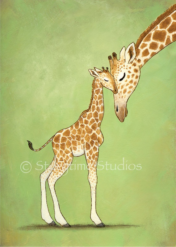 I love giraffes...would like a few pieces of art for the nursery