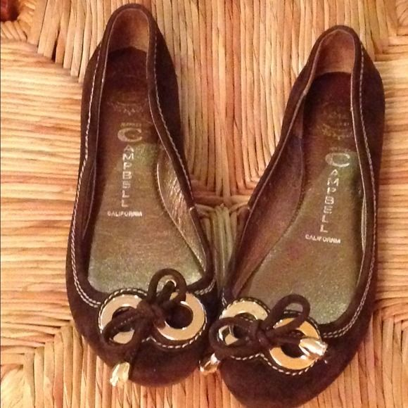 Jeffrey Campbell brown suede loafers Twin Gold hardware, heel 1/4, round toe, lightly padded Jeffrey Campbell Shoes Flats & Loafers