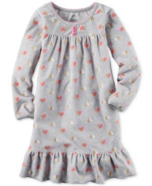 Carter's Heart-Print Sleep Shirt, Little Girls (2-6X) & Big Girls (7-16) - Prt Print 6/7