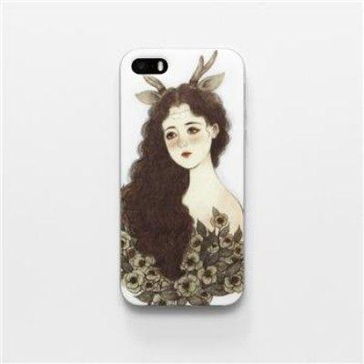Hand Draw Design iphone 5/5s Case (Forest Spirit II)