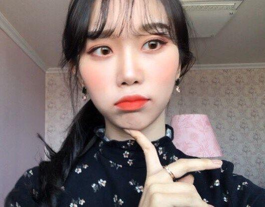 """좋아요 52개, 댓글 4개 - Instagram의 김아름(@arumi_v)님: """"🌸오렌지 핑크 다하자! 봄 메이크업 보러와유🧡💕"""""""