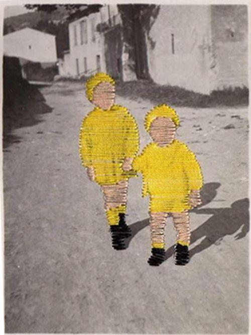 Flore Gardner foto niños bordado byn amarillo genial