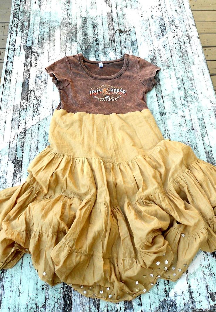 Romantic Gypsy Cowgirl Dress Funky Tshirt Dress Womens