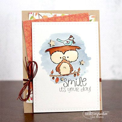 """Created by Lisa Arana. This kit contains 5 stamps. Owl measures approximately 2"""" x 2.5"""". """"Owl we need is each other"""" sentiment measures approximately .25"""" x 1.75"""". """"You are a HOOT & A HALF"""" sentiment measures approximately .5"""" x 1"""". """"it's going to be OWL-RIGHT"""" sentiment measures approximately .5"""" x 1"""". """"It's not what we have in life, but ho we have in our life that matters"""" sentiment measures approximately 1"""" x 1.25""""."""