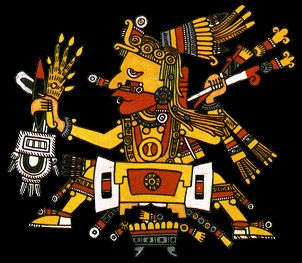"""Tonacatecuhtli, Lord of Our Sustenance, is a primordial creator god, a god of fertility and beginnings. Tonacatecuhtli is the being at the """"..."""