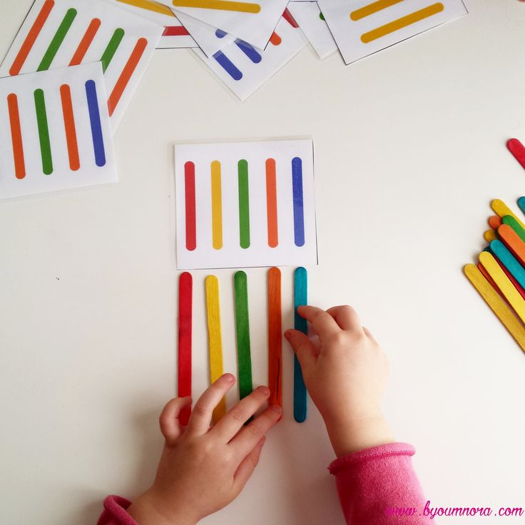 supports éducatifs topologie bâtonnets de couleur