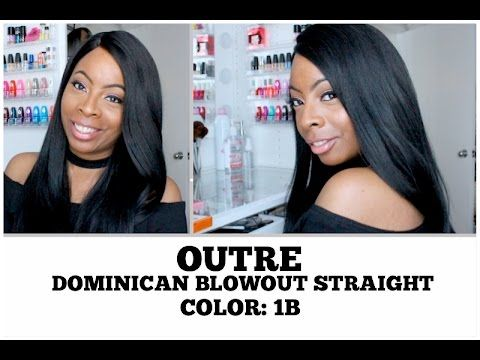 Outre Dominican Blowout Straight Lace Front Wig | COLOR 1B