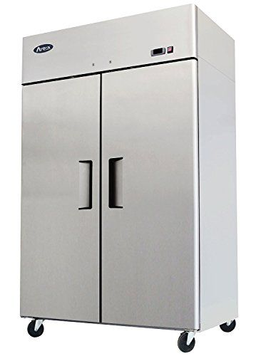 "52"" Double 2 Door Side By Side Stainless Steel Reach in Commercial Refrigerator, 49 Cubic Feet, for Restaurant WP Restaurant Fridges http://www.amazon.com/dp/B00HON3NFU/ref=cm_sw_r_pi_dp_JdG8vb09R2J22"