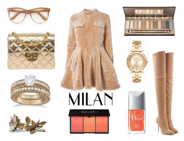 """""""Milan"""" by elena-anders on Polyvore featuring J.W. Anderson, Balmain, Chanel, Wildfox, Allurez, Michael Kors and Christian Dior"""