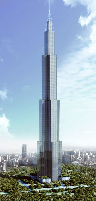 Sky City, Changsha, China by  Broad Group ::  220 floors, height 847, proposal :: next worlds tallest building