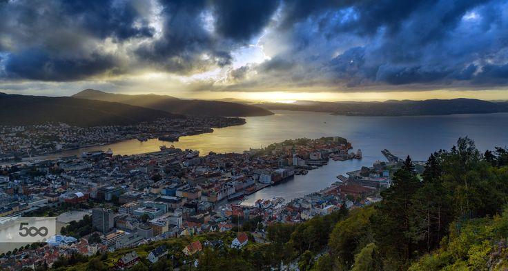 Bergen Sunset by Eirik Sørstrømmen on 500px